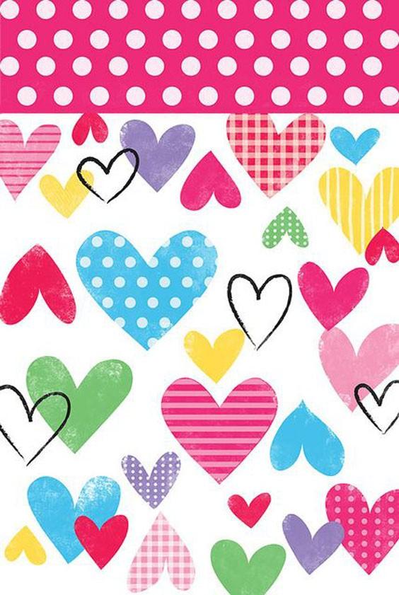 corazones de colores fondo - photo #12