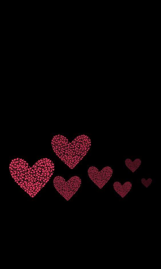 Black Red Love Wallpaper : corazones de corazones, fondo de pantalla Ringtina