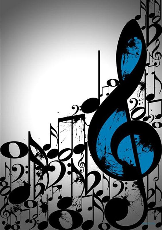 Clave De Sol Y Notas Musicales Fondo De Pantalla Ringtina